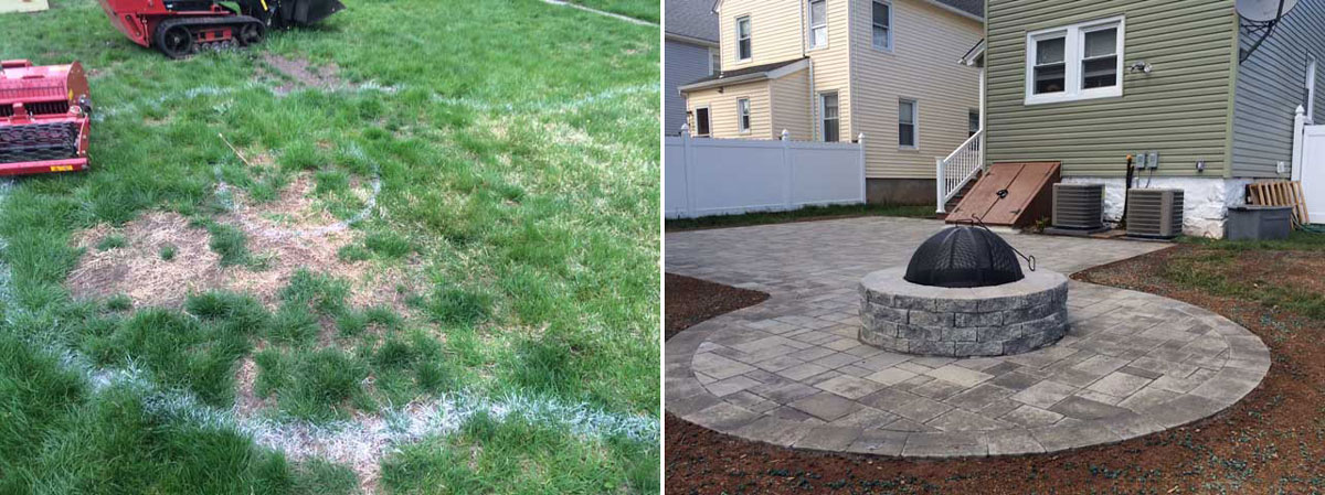 Patio with Firepit - Before & After