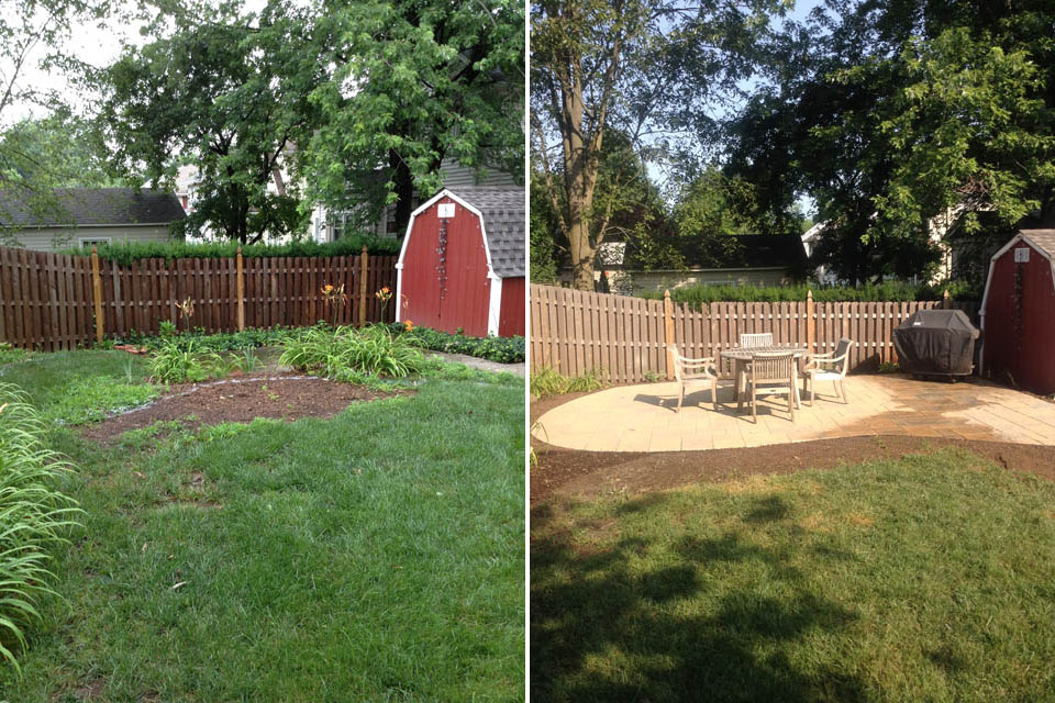 Patio Project - Before & After