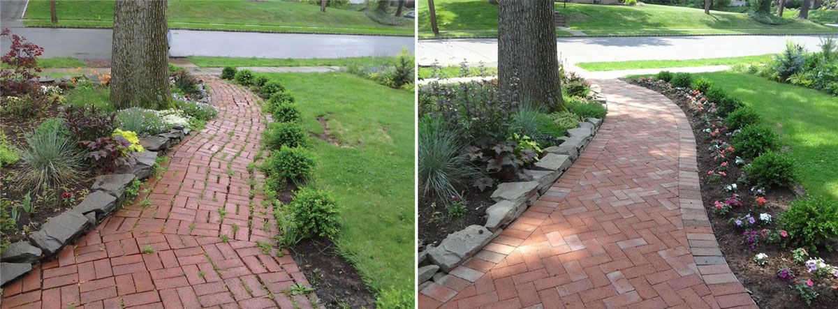 Front Walkway to Road - Before & After