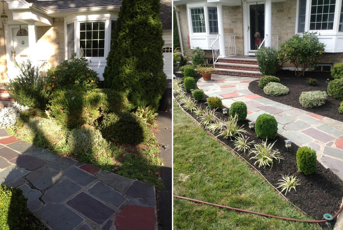 New Front Landscape - Before & After