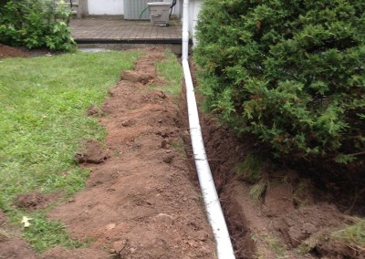 Drainage, Gutter, Downspout Installation - Before
